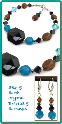 Sky and Earth Handcrafted Crystal Bracelet