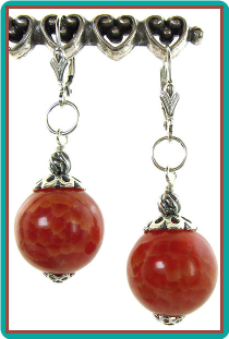 Crabfire Agate Earrings