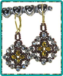 Metallic Crystal Medallion Earrings