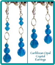 Caribbean Opal Crystal Earrings