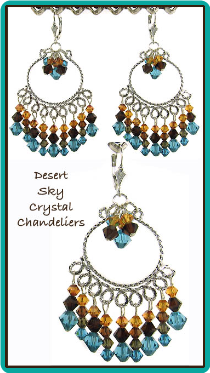 Desert Sky Crystal Chandelier Earrings