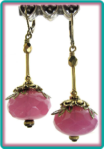 Old-Fashioned Raspberry Opal Drop Earrings