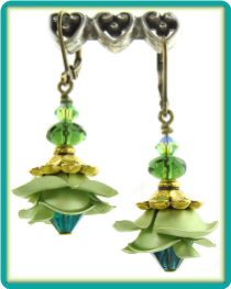 Light Lime Aluminum Roses Earrings