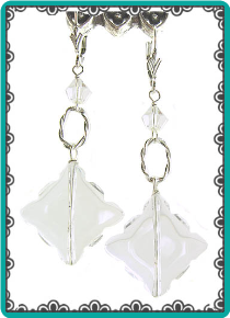 Crystal Clear Scalloped Diamond Earrings