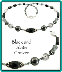 Black, Slate, and Silver Necklace