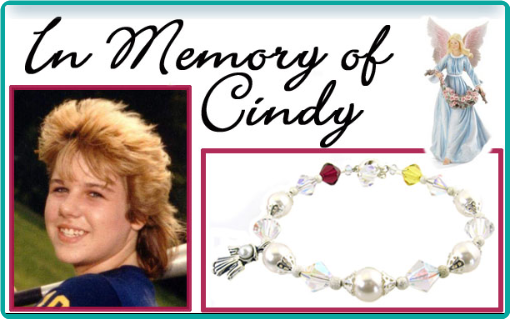 A custom memorial bracelet to honor a deceased loved one.