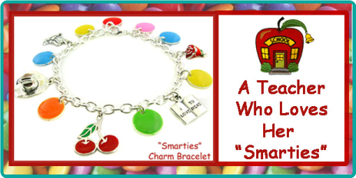 A custom charm bracelet for a well-loved favorite teacher.