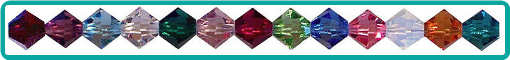 Swarovski Crystal Birthstone Colors Used in Custom Jewelry Designs
