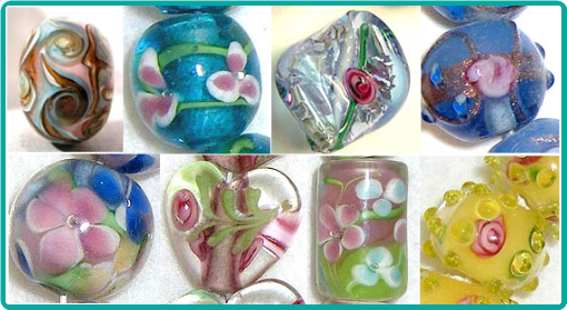 These are examples of lampwork beads.