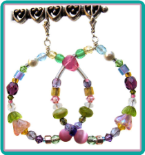Pink Lily Pastel Multicolor Hoop Earrings