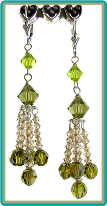 Cascading Olivine Crystal Chandelier Earrings