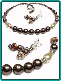 Brown and Ivory Pearl Necklace