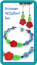 Summer Millefiori Bracelet & Earring Set