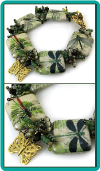 Fern Green Dragonfly Bracelet