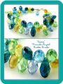 """Deirdra"" Watercolors Crystal Briolette Bracelet"