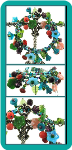 Turquoise and Coral Aquarium Wrap-Around Charm Bracelet