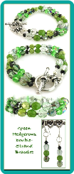 Green Hedgerows Double-Strand Handmade Bracelet