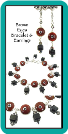 Brown Eyes Bracelet and Earrings
