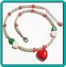 Hearts, Flowers and Pearls Girl's Necklace
