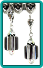Black Stripe Tube Earrings