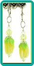 Lemon Butter Flower Bud Earrings