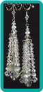 Clear Crystal and Pearl Cascading Earrings