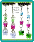 Crystal Butterfly Drops Earrings