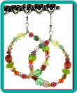 """Mango"" Beaded Hoops Earrings"