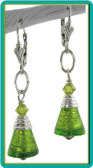 Luscious Lime Cone Earrings