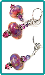 Opal Orchid Boro Earrings & Pendant