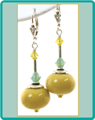 Browned Butter Lampwork Earrings