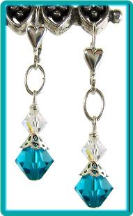 December Birthstone Earrings<br>Blue Zircon