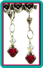 July Birthstone Earrings<br>Ruby