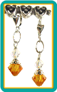 November Birthstone Earrings<br>Yellow Topaz