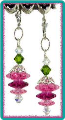 Pink Crystal Margarita Earrings