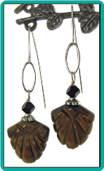 Tigereye Fan Earrings