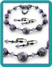 Lavender Daisy Bead Necklace