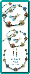 Southwest Mesas Lampwork Bead Necklace