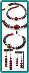 Ruby Sapphire Fire and Ice Set