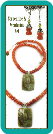 Serpentine and Red-Orange Aventurine Necklace &  Earrings