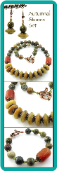 Autumnal Stones Necklace Set