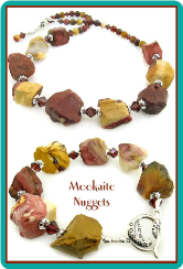 Mookaite Nuggets Necklace & Bracelet Set