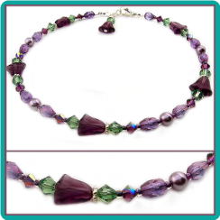 Purple Lily Anklet