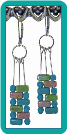 Pastel Brick Walls Earrings
