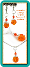 Sunshine Orange Crystal Earrings & Pendant