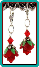 Red Roses Drop Earrings