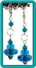 Hawaiian Blue Lampwork & Crystal Earrings
