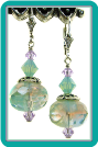Seafoam Gossamer Crystal Earrings