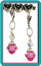 October Birthstone Earrings<br>Rose Pink Zircon