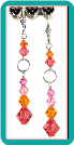 Fruity Melon Crystal Earrings